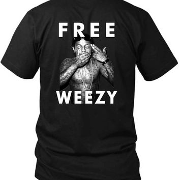 Lil Wayne Free Weezy Shoot Me Cover 2 Sided Black Mens T Shirt