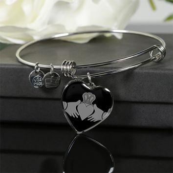 ☘️ Jewelry - Bangle Bracelet & Luxury Necklace - The Claddagh Heart ☘️