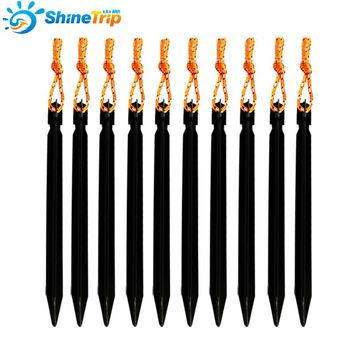 20 pcs ShineTrip 18cm Triangular Tent Nail Aluminium Alloy Stake with Rope Camping Equipment Outdoor Travel Tent Peg