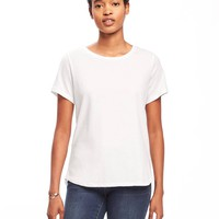 EveryWear Stay-White Relaxed Tee for Women | Old Navy