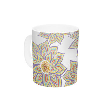 "Pom Graphic Design ""Floral Dance"" Ceramic Coffee Mug"