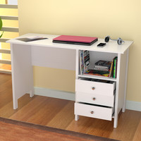 Inval White Modern Straight Desk