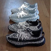 Adidas Yeezy 350 V2 Boots fashion hot couple starry luminous sneakers