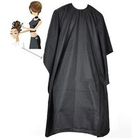 2016  Hair Cutting Cape Pro Salon Hairdressing Hairdresser Gown Barber Solid Black AE62