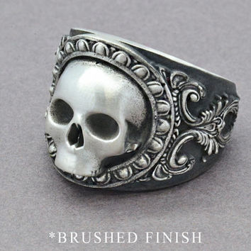 The Reaper Ring, Skull Ring, Sterling Silver Ring, Men's Skull Ring, Men's Statement Ring, Gothic Ring, Pirate Skull Ring, Statement Ring