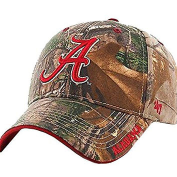 NCAA Alabama Crimson Tide Frost Mvp Adjustable Hat, One Size, Realtree Camouflage