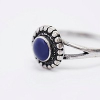 Blue Stone Ring in Silver - Urban Outfitters