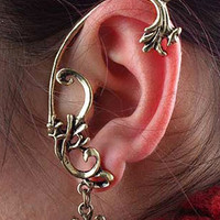 Cross Carvings Wrap Earring