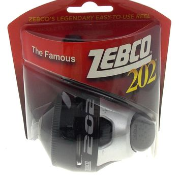 Zebco 202 Spincast Fishing Reel All Metal Gears 10 lb Line 2.8:1 Gear Rating