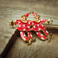 Circus Clowns Brooch #5338