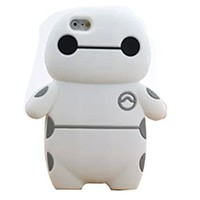 iPhone 6 Case,Sandao Cute 3D Cartoon Big Hero Baymax silicone Case cover for Apple iphone 6 4.7 inch and Long Sky Blue Touch Screen Stylus Pen by Sandao