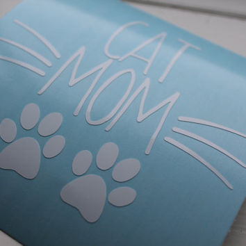 Car Decal Cat Mom, Cat Lover