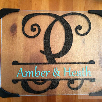 Personalized Glass Cutting Board, Custom Cutting Board, Custom Cutting Board, Personalized Vinyl Cutting Board, Kitchen, Prepping