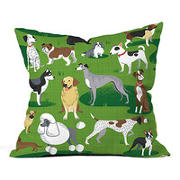 DENY Designs Dog Day Afternoon Fleece Throw Pillow | zulily