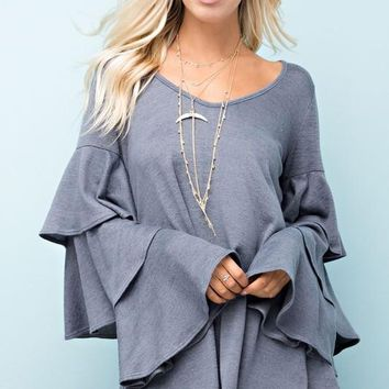 Flyaway Sleeves Top