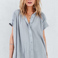 Ecote Annie Gauzy Button-Front Blouse - Urban Outfitters
