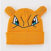 3D Charizard Pokemon Cuff Beanie Hat - Spencer's