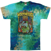 Woodstock Men's  Woodstock Music Festival Tie Dye T-shirt Multi Rockabilia
