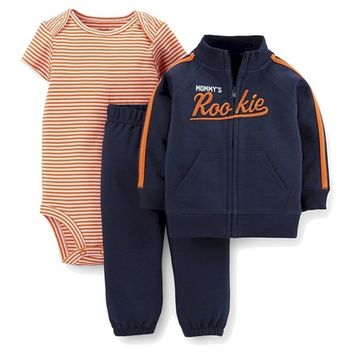 Just One You™Made by Carter's® Newborn Boys' 3 Piece Rookie Set - Navy/Orange