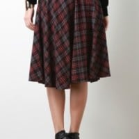 Flannel A Line Skirt