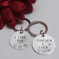 Set of I Love You Key Chains