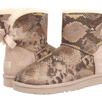UGG Mini Bailey Bow Snake Metal - Zappos.com Free Shipping BOTH Ways