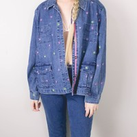 Vintage Butterfly Denim Jacket