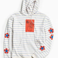 UO Horizontal Stripe Graphic Hoodie Sweatshirt | Urban Outfitters