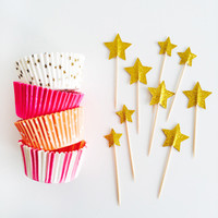 Shop Sweet Lulu - Pink Stars Cupcake Kit