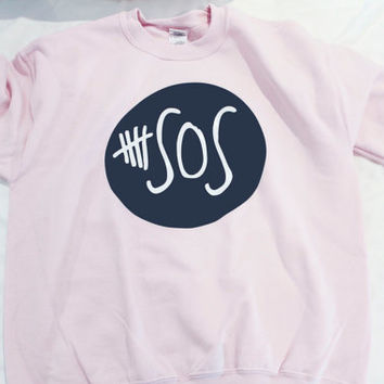 5 Seconds Of Summer Logo Pull Over Sweater Pink