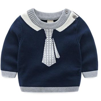 Baby Boys Sweater Winter Sweatershirt Tiny Cottons Girls Sweater Knitted Pullover Warm Sweater kid clothing BDZ873003