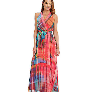 Leslie Fay Printed Chiffon Maxi Dress | Dillards.com