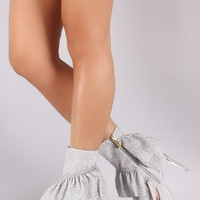 Girls Just Want to Have Fun Ruffle Sock Stiletto Heel