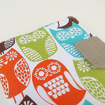 Nook Simple Touch Cover Kindle Fire Cover iPad Mini Cover Kobo Cover Case Swedish Owls eReader