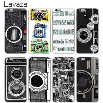 Lavaza Vintage Camera Hard Transparent Cover Case for iPhone X 10 8 7 6 6S Plus 5 5S SE 5C 4 4S