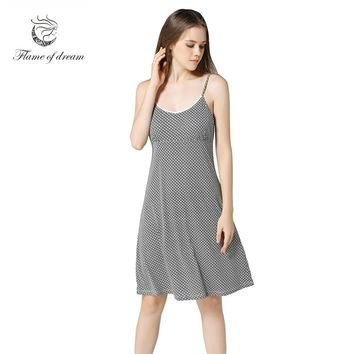 Nightgowns & Sleepshirts Nightdress Women Nightgown Cotton Sexy Sleepwear 8679