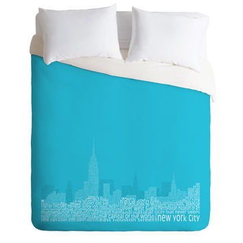 Restudio Designs New York Skyline 3 Duvet Cover