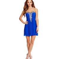 Blondie Nites Beaded V-Trim Sheath Dress | Dillards
