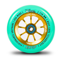 River Rapid Wheels 110mm Cohen Nine Lives Mint/Gold Pro Scooter Wheels