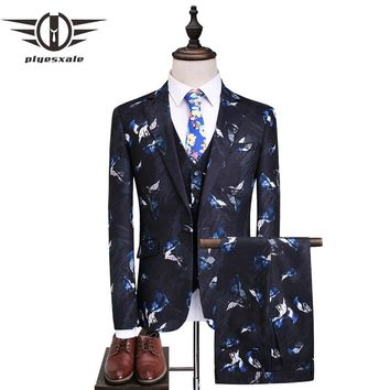 Men Suit Slim Fit Male Printed Suits Men Suits Wedding Groom Designer Prom Wear Clothing