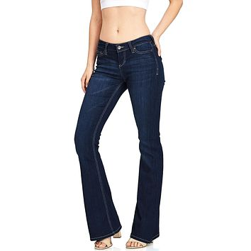 City Sleek Mid Rise Bell Bottoms