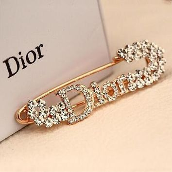 DIOR 2018 new beautiful fashion diamond big brooch F-QSSP-DP