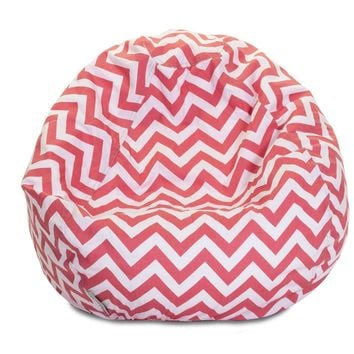 Coral Chevron Small Classic Bean Bag