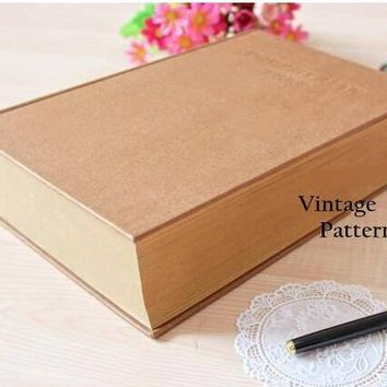 Vintage Kraft Porphyrian Tree Thick Dictionary Design Super Thick Life Diary Book Notebook 27*19*6.5cm 1100 Pages Sketchbook