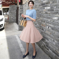 Pleated A-Line Skirt by 66girls