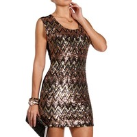Gold Chevron Sequin Tunic