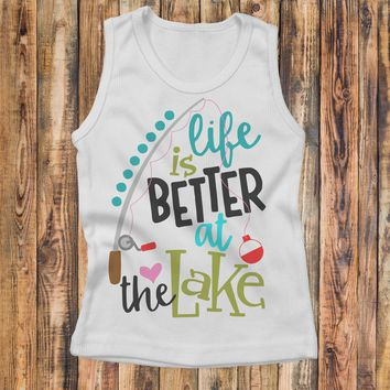 Life Is Better At The Lake - Kids Tank Top