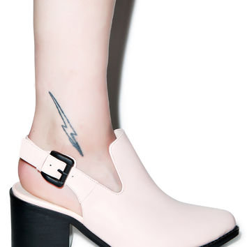 Intentionally Blank Pills Slingback Heels Baby Pink
