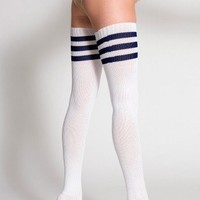 American Apparel Stripe Thigh-High Sock $10.72