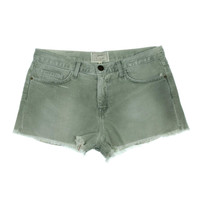 Current/Elliott Womens Twill Fringe Cutoff Shorts